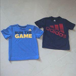 2 adidas shirts